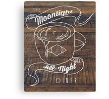Moonlight All-Nite Diner Canvas Print