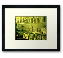 Laundry and Dry Cleaning Framed Print