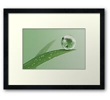 Earthdrop Framed Print