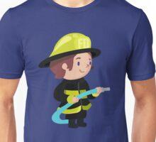 Cute Firefighter Design Unisex T-Shirt
