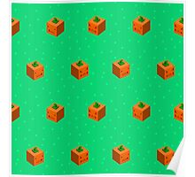 Cute Square Pumpkins Poster