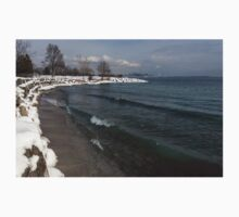 Waterfront Winter - Waves, Snow and Skyline Kids Clothes