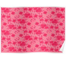 A Little Floral Pattern in Pink Poster
