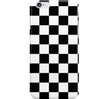 Black and White Check Checkered Flag Motorsports Race Day + Chess iPhone Case/Skin
