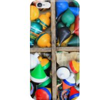 Colorful Wood Spinning Tops iPhone Case/Skin