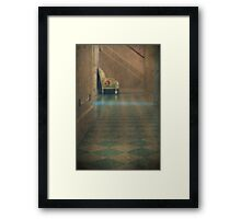 Silently Down the Hall Framed Print