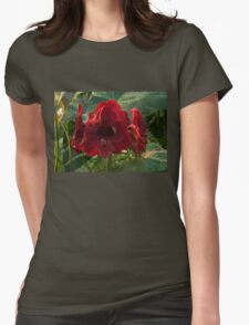 Vivid Scarlet Amaryllis Flowers - Happy Holidays! T-Shirt