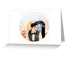 Doctor Who Eleventh Doctor Circle Graphic Greeting Card