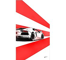 Aventador Red Photographic Print