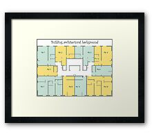 Building architectural background Framed Print
