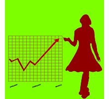 Business chart and women Photographic Print