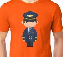 Cute Pilot Design Unisex T-Shirt