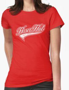 Hoser Hut_White Womens Fitted T-Shirt
