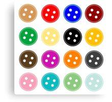 Button Buttons Canvas Print