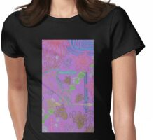 new york city tangle with horn Womens Fitted T-Shirt