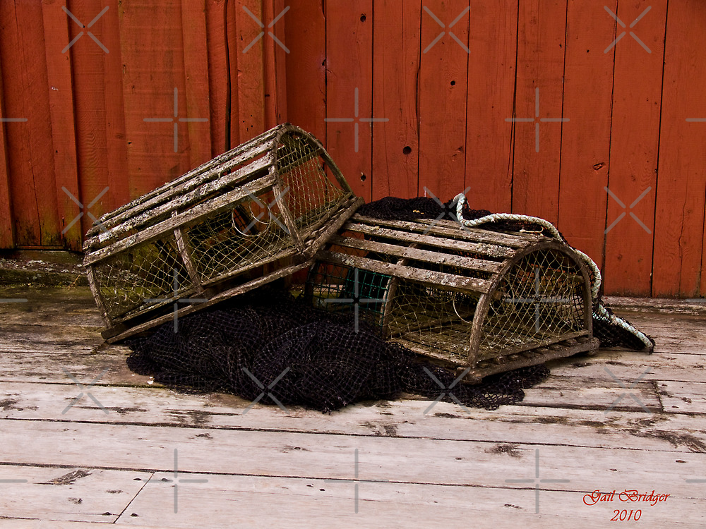 Lobster Pots by Gail Bridger