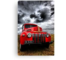 Red Ford Truck Canvas Print