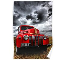 Red Ford Truck Poster