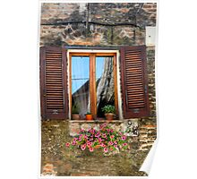 Tuscan Window in Browns Poster
