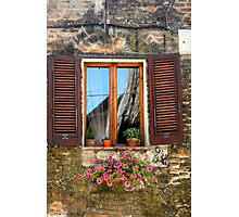 Tuscan Window in Browns Photographic Print