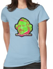 Time Is Melting Womens Fitted T-Shirt