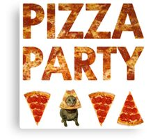 Pizza Party with Cats! Canvas Print