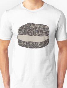 Grayscale Macaroon Doodle Unisex T-Shirt