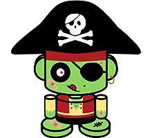 Pirate Zombie O'bot 2.0 Photographic Print