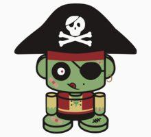 Pirate Zombie O'bot 2.0 Kids Tee