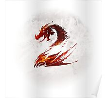 Guild Wars 2 Faded Logo Poster