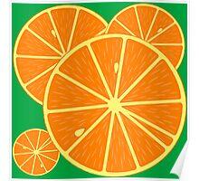 Oranges backround Poster