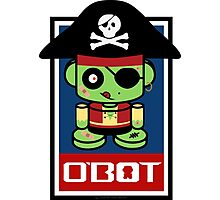 Pirate Zombie O'bot 2.1 Photographic Print