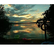OPALESCENT COLORS ON THE LAKE Photographic Print