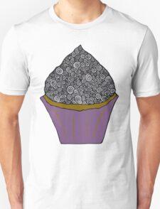 Greyscale Cupcake Doodle T-Shirt