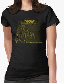 Powerloader Blueprint (yellow) Womens Fitted T-Shirt