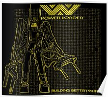Powerloader Blueprint (yellow) Poster