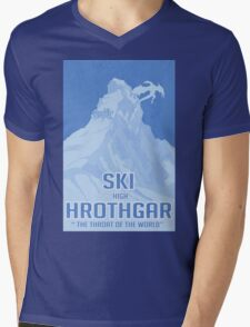 Ski Hrothgar Mens V-Neck T-Shirt