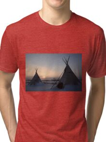 PLAINS CREE TIPI Tri-blend T-Shirt