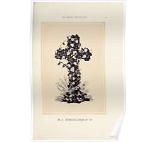 Floral Designs Series I a hand book for cut flower workers and florists John Horace McFarland 1888 0017 Standing Cross of Ivy Poster