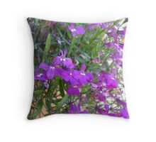 Crawling Purple  Throw Pillow