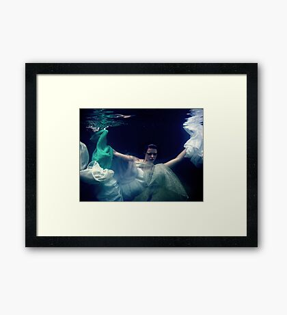 Breaking out and floating free Framed Print