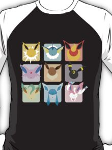 Eeveelutions Grid2 T-Shirt