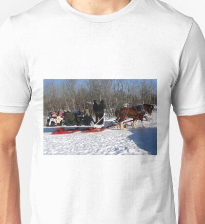 Family Sleigh Ride Unisex T-Shirt