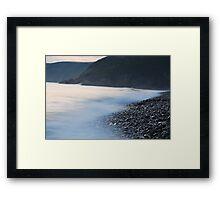 Newgale, high tide Framed Print