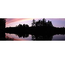 Sundown On Long Lake Ontario Photographic Print