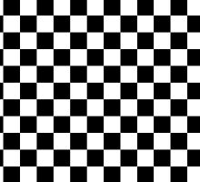 Black and White Check Checkered Flag Motorsports Race Day + Chess by Saburkitty