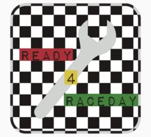 Black and White Check Checkered Flag Motorsports Race Day + Chess Baby Tee