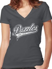 Puzzles HIMYM Women's Fitted V-Neck T-Shirt