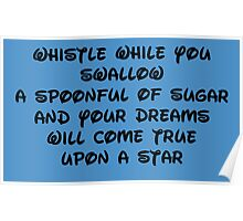 whistle while you swallow Poster