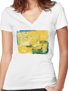 Pass Go Women's Fitted V-Neck T-Shirt